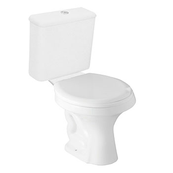 Vaso Sanitário Branco com Caixa Acoplada Parati Logasa  - Comercial Tuan Materiais para Construção