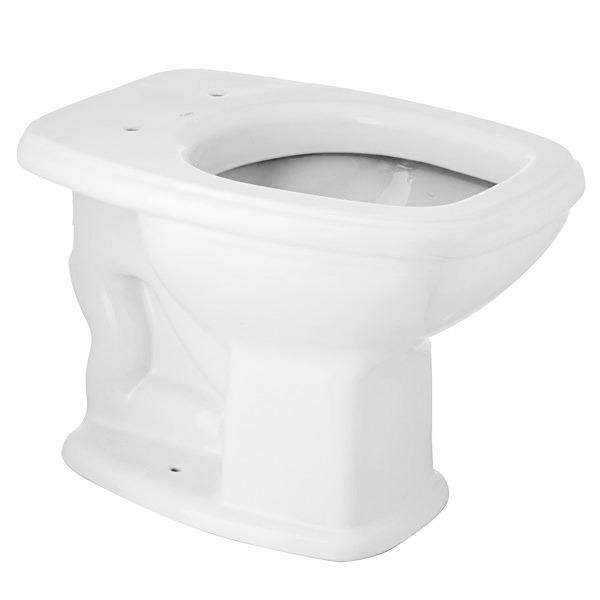 Vaso Sanitário Convencional Fit Branco Celite  - Comercial Tuan Materiais para Construção