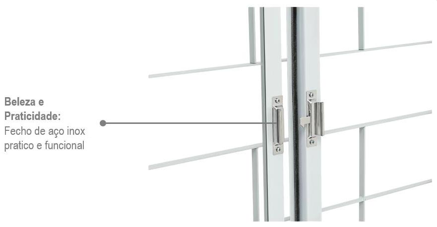 Veneziana 100x150cm 6 Folhas Branca com Grade Quadriculada Aço Kompacta Sasazaki  - Comercial Tuan Materiais para Construção