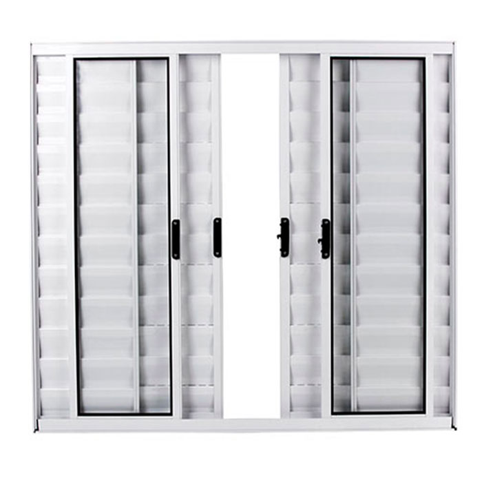 Veneziana 6 Folhas Aluminio Branco 100x150cm Sem Grade Facce  - Comercial Tuan Materiais para Construção