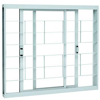 Vitrô de Correr 2 Folhas  Branco Kompacta Sasazaki  - Comercial Tuan Materiais para Construção