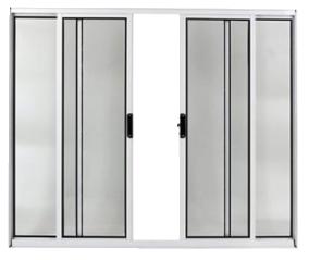Vitrô 4 Folhas  Alumínio Branco 100x150cm com Vidros Facce  - Comercial Tuan Materiais para Construção