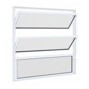 Vitrô Basculante de Alumínio sem Grade 60x60cm Lucasa  - Comercial Tuan Materiais para Construção