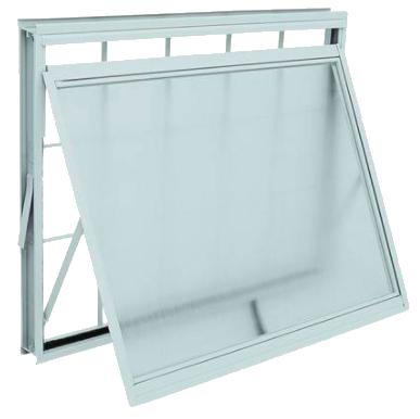 Vitrô Branco Maxim-Ar com Grade Quadriculada 60cmx80cm Kompacta Sasazaki  - Comercial Tuan Materiais para Construção