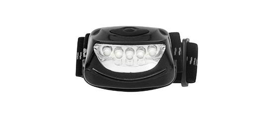 01 LANTERNA de Cabeça Ar Livre Mãos livres 5 LEDs RAYOVAC