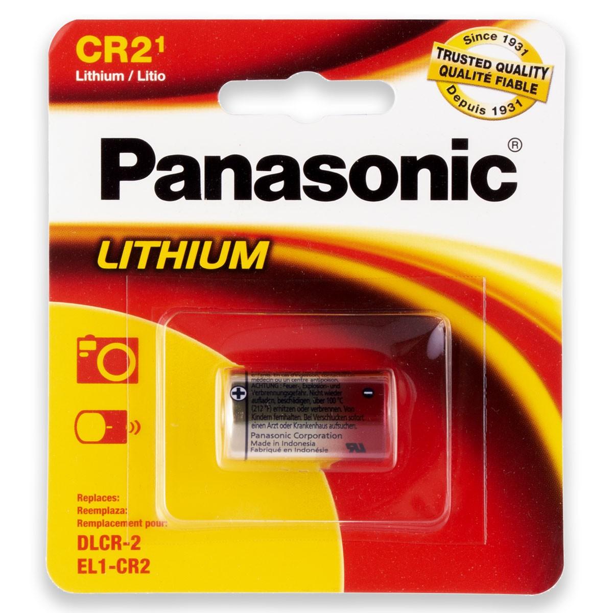 01 Pilha PANASONIC CR2 3V Bateria 1 cartela