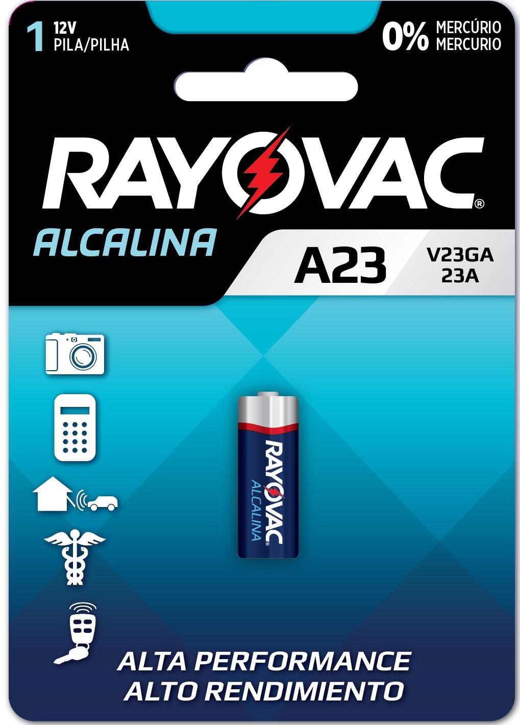 02 Pilhas Baterias A23 23A 8LR932 12v Alcalina RAYOVAC - 02 cartelas