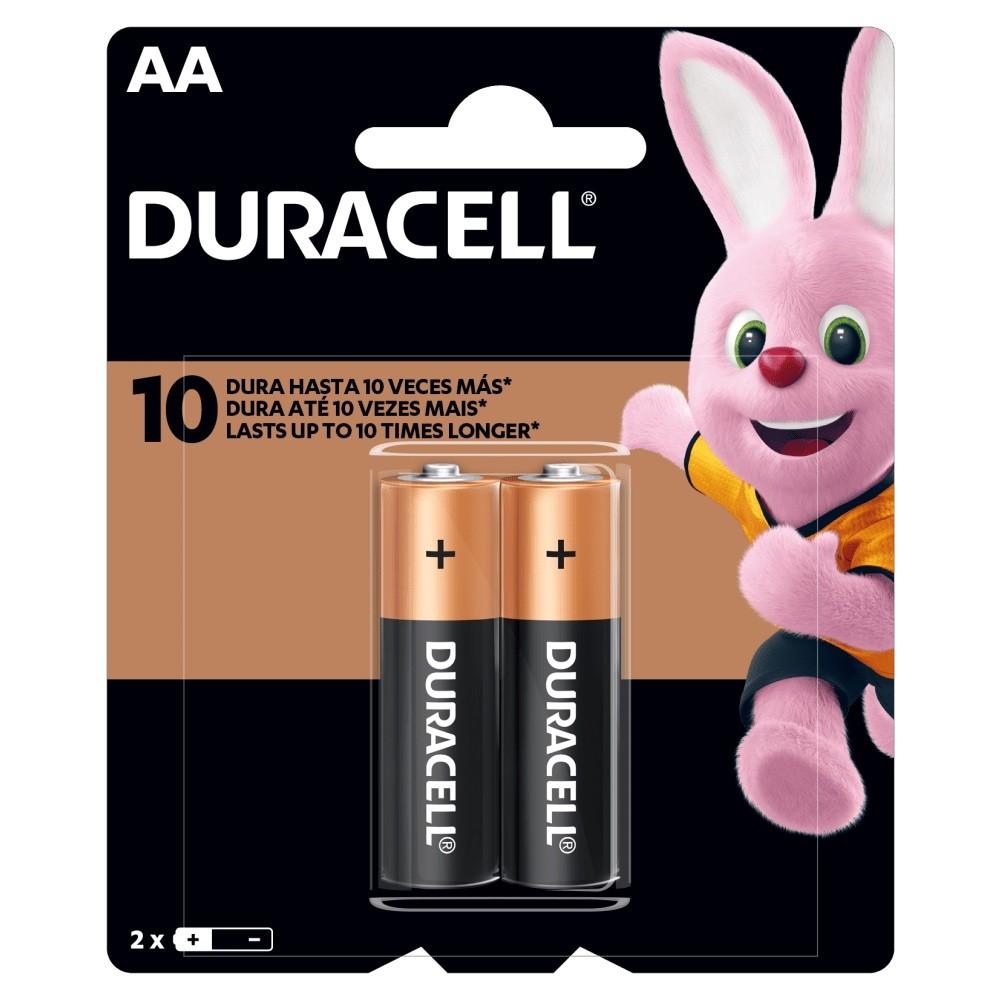 02 Pilhas DURACELL DURALOCK Alcalina AA Embalagem C/2 Unids