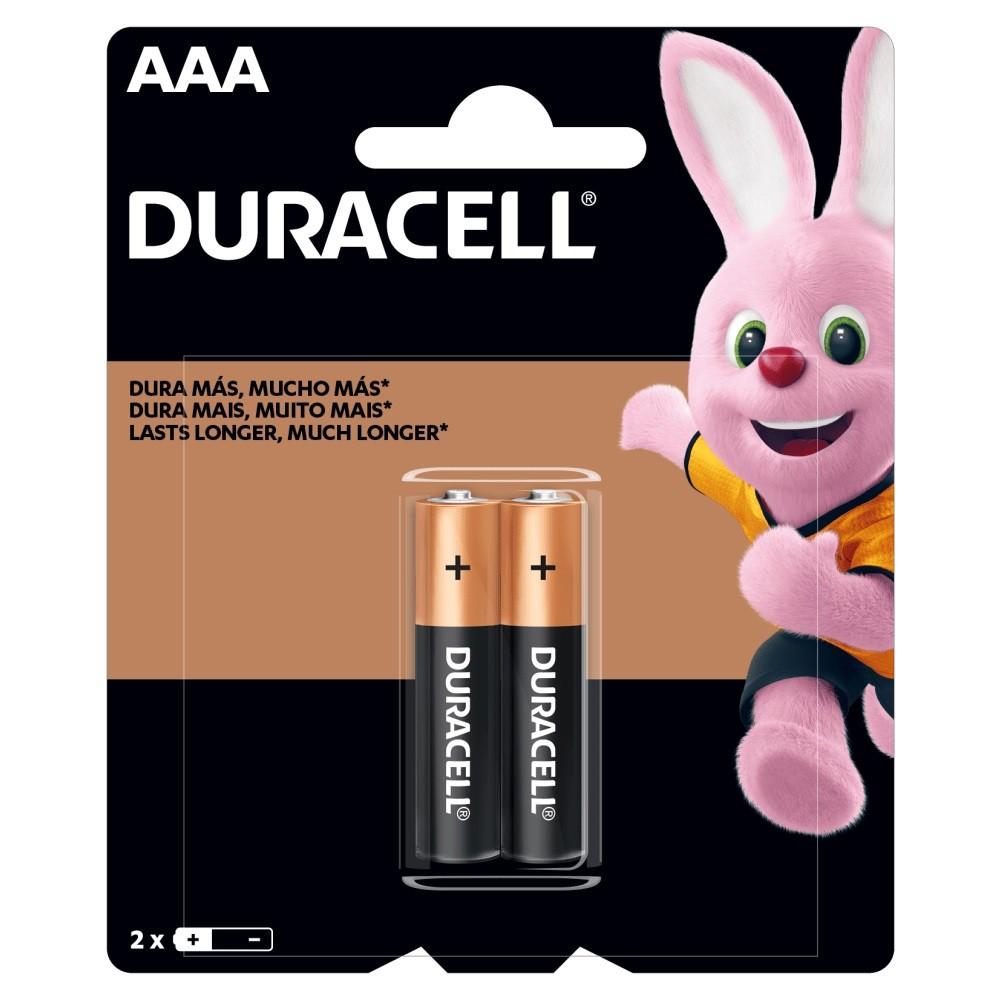 02 Pilhas DURACELL DURALOCK Alcalina AAA Embalagem C/2 Unids