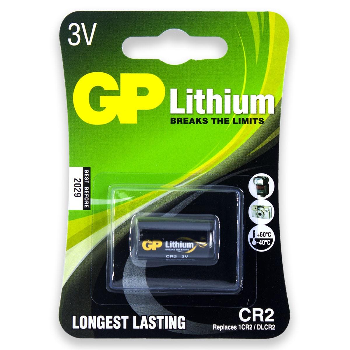 02 Pilhas GP SUPER CR2 3V Bateria Foto 2 cartelas