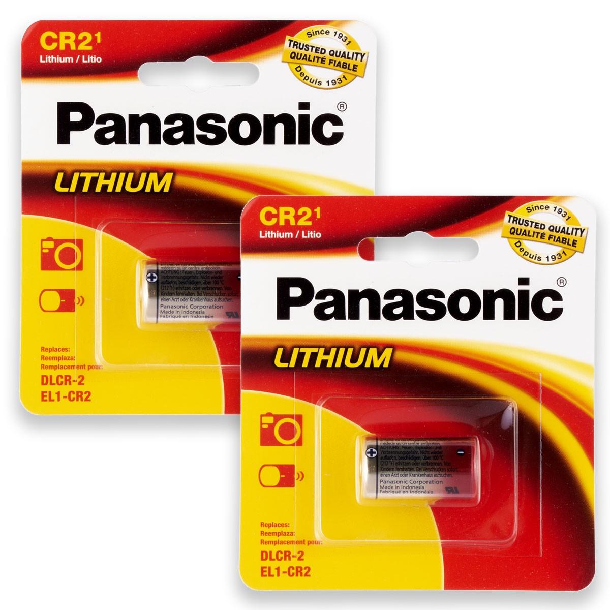 02 Pilhas PANASONIC CR2 3V Bateria 2 cartelas