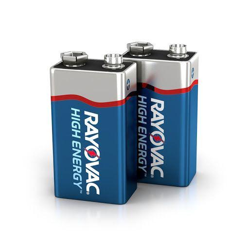 04 Pilhas Bateria 9V Alcalina RAYOVAC - 02 cartelas com 2 unidades