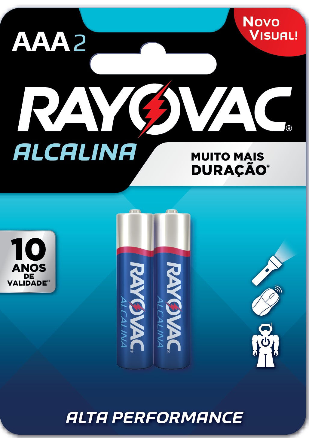 04 Pilhas AAA Alcalina RAYOVAC 2 cart c/ 2 unid
