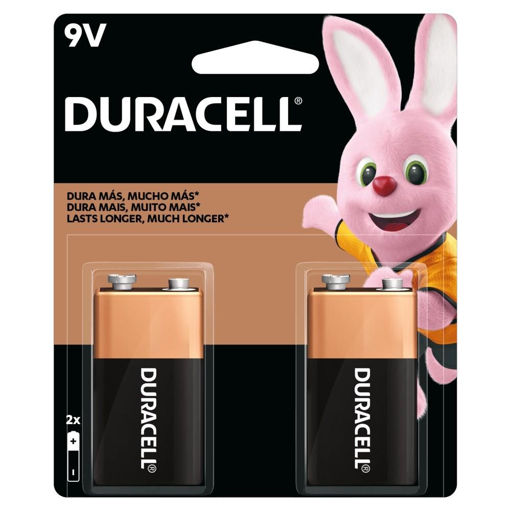 04 Pilhas Bateria 9V Alcalina DURACELL 2 cartelas