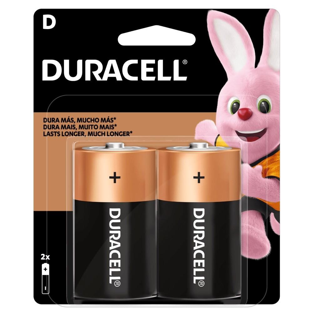 04 Pilhas D Grande LR20 Alcalina DURACELL 2 Cartelas