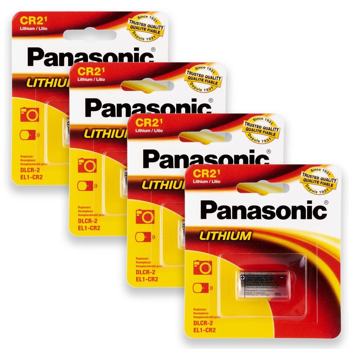 04 Pilhas PANASONIC CR2 3V Bateria 4 cartelas