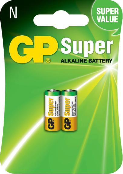 04 Pilhas Tipo N LR1 Alcalina GP Super - 02 cartelas com 4 unidades