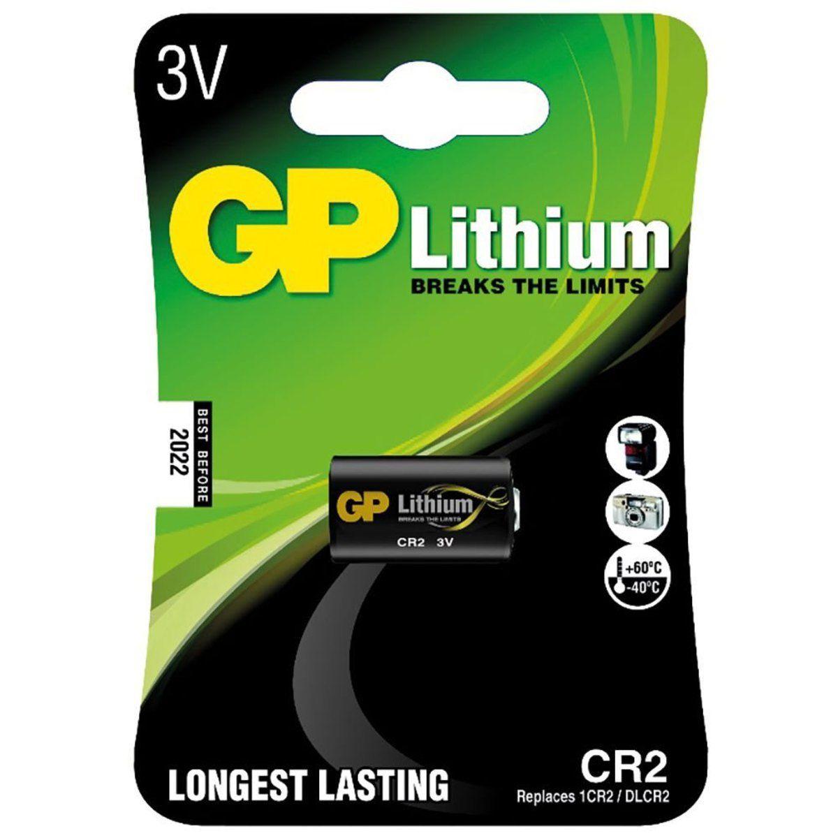 05 Baterias Pilhas Cr2 3v Lithium Foto Gp Cartela Unitária