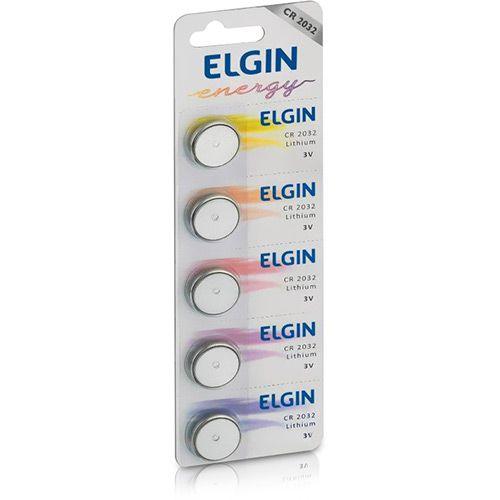 05 Baterias Pilhas Lithium Elgin CR2032 - 01 cartela com 5 unidades