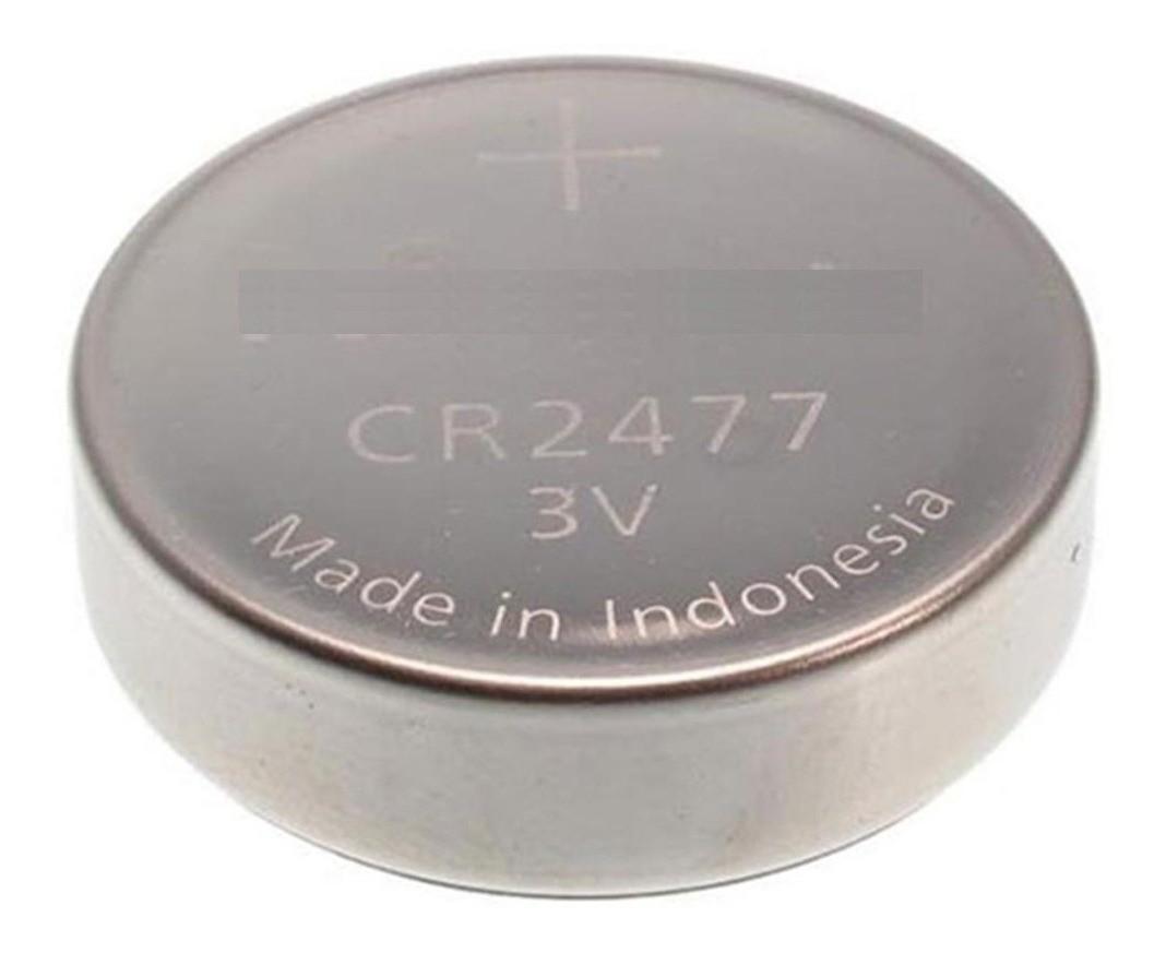 05 Baterias Pilhas Lithium 3V Elgin CR2477 1 cartela