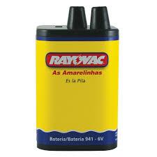 05 Pilhas 941 6V 5ah Zinco Rayovac - 5 cartelas