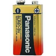 05 Pilhas Baterias 9V Alcalina PANASONIC 5 cartelas