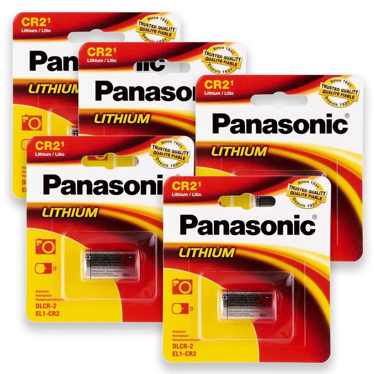 05 Pilhas PANASONIC CR2 3V Bateria 5 cartelas