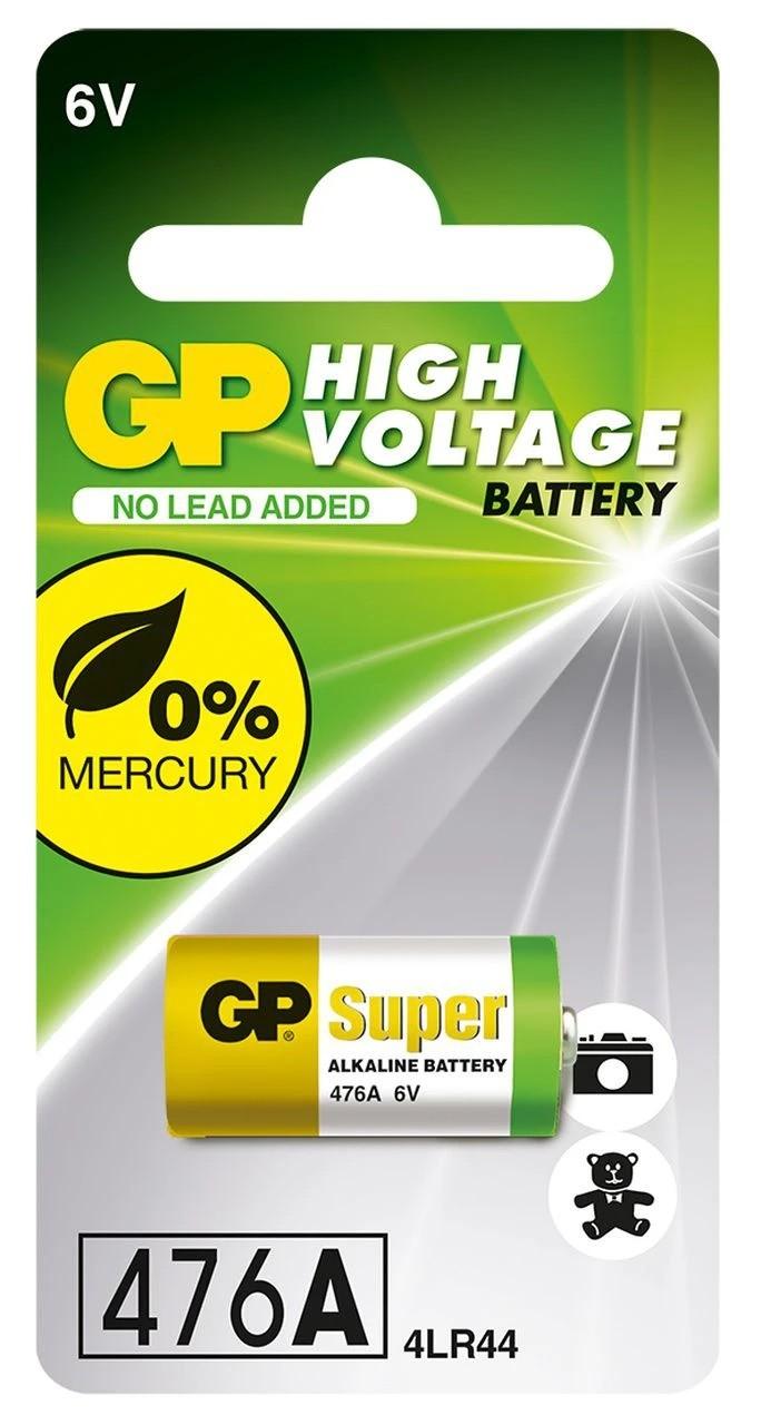 06 Baterias 4LR44 4A76 910A 6V Alcalina Super GP 6 cartelas