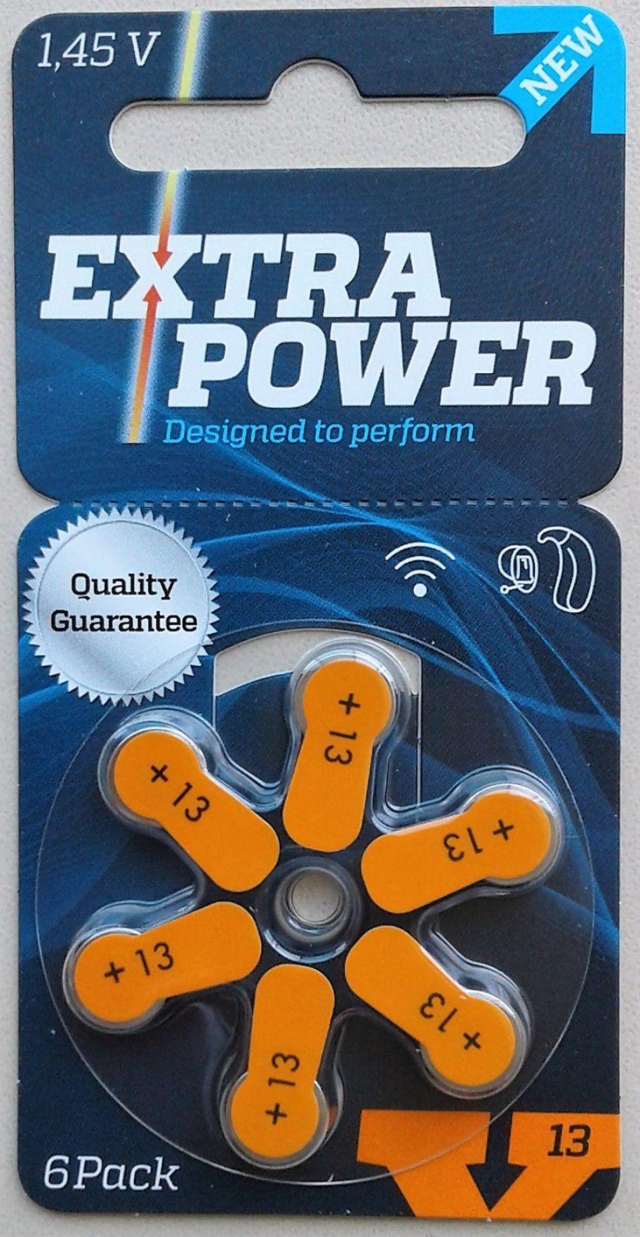 06 Pilhas baterias 13 PR48 Aparelho auditivo EXTRA POWER
