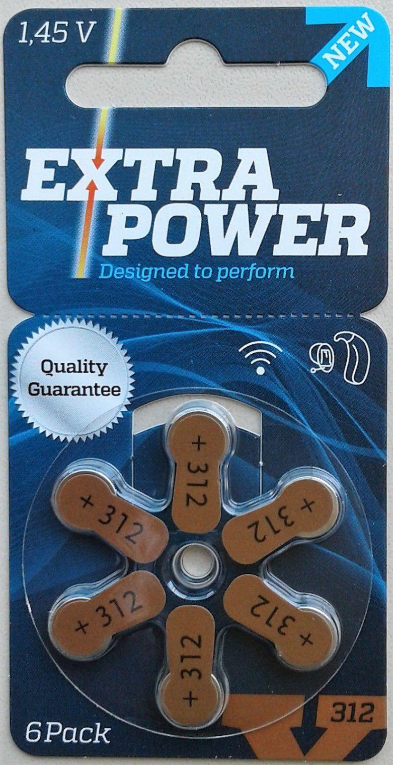06 Pilhas baterias 312 PR41 Aparelho auditivo EXTRA POWER