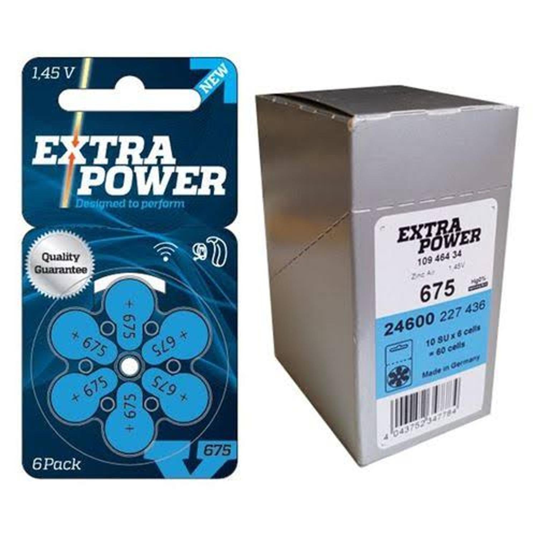 06 Pilhas baterias 675 PR44 Aparelho auditivo EXTRA POWER
