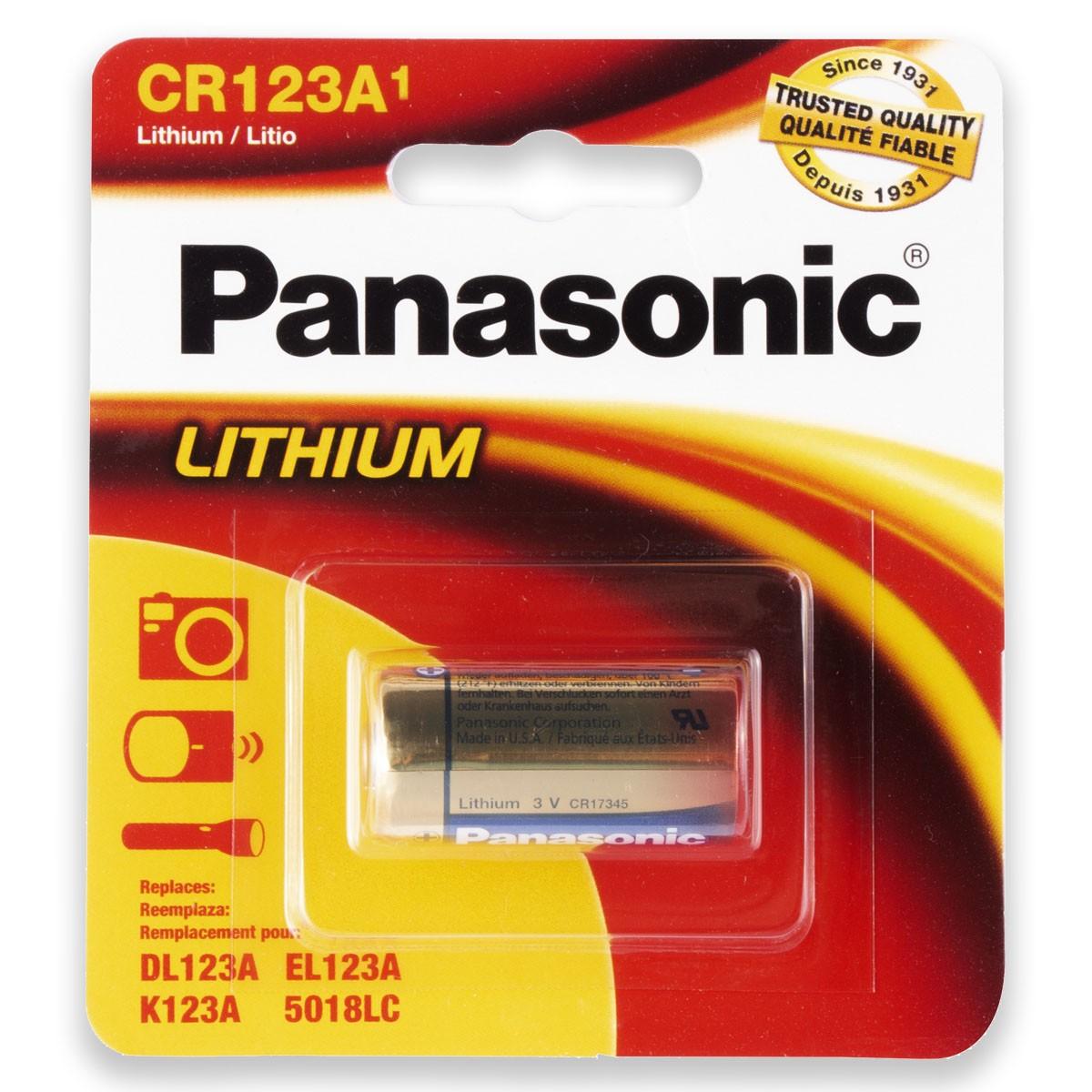 06 Pilhas PANASONIC CR123A 3V Bateria 6 cartelas