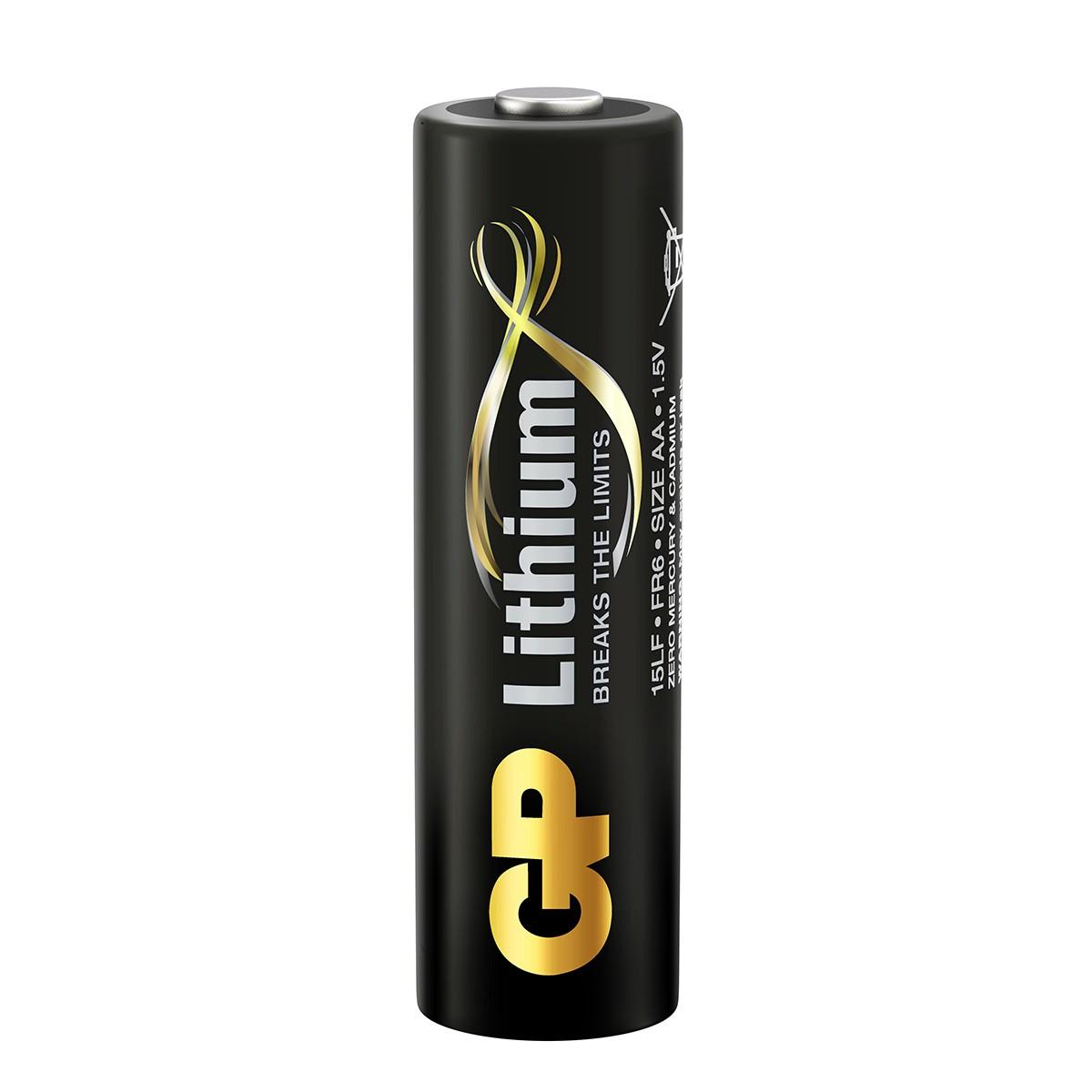 08 Baterias Pilhas AA Lithium 1.5V GP 4 cartelas