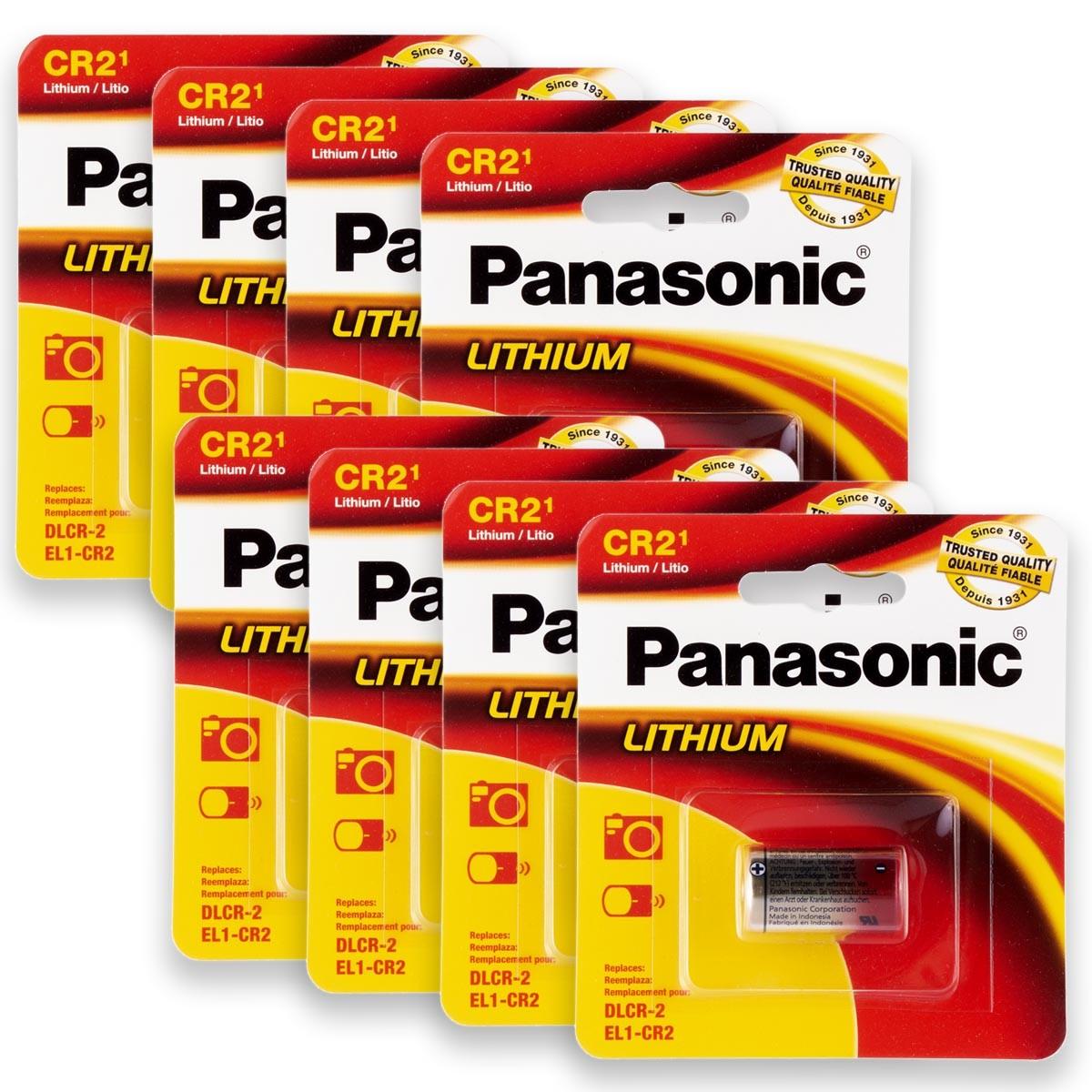 08 Pilhas PANASONIC CR2 3V Bateria 8 cartelas