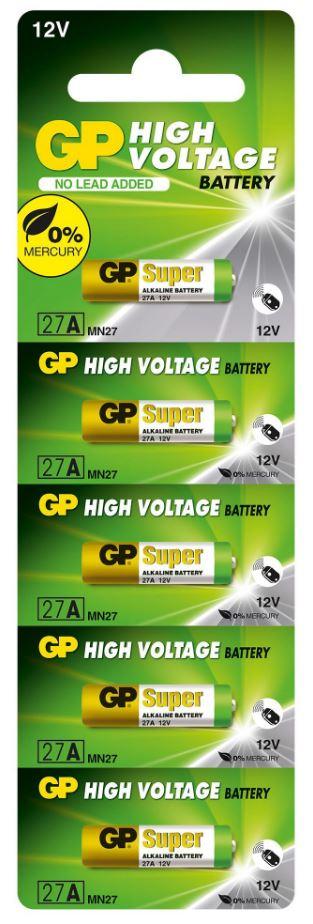 100 Pilhas Baterias 27A 12V Alcalina GP 20 cartelas com 5 unidades