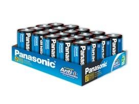 100 Pilhas D Zinco Carvão PANASONIC 5 bandejas