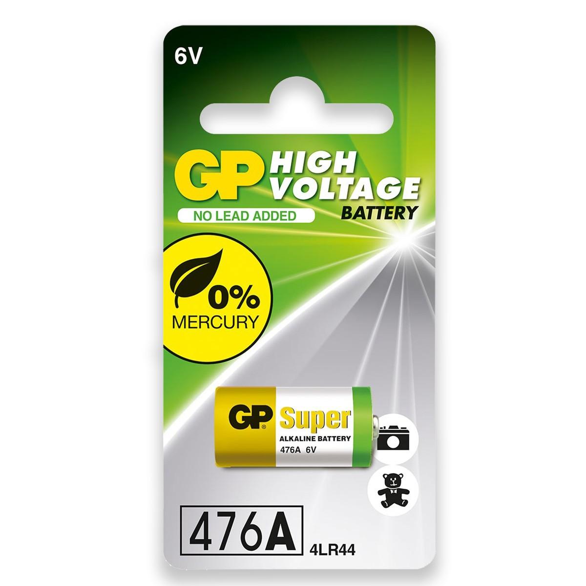10 Baterias 4LR44 4A76 910A 6V Alcalina Super GP 10 cartelas