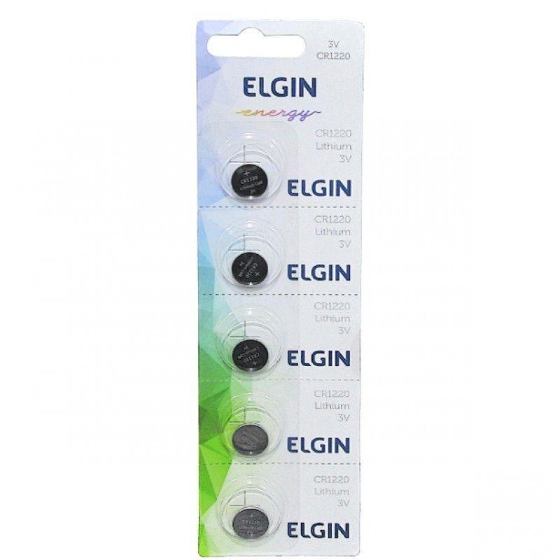 10 Baterias Pilhas Lithium Elgin CR1220 - 02 cartelas com 5 unidades