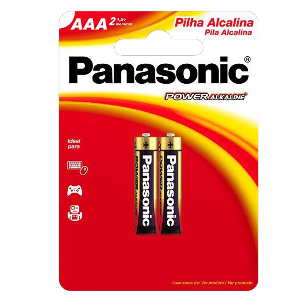 10 Pilhas AAA Alcalina PANASONIC 5 cartelas