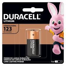 10 Pilhas Bateria CR123 DURACELL 10 cartelas