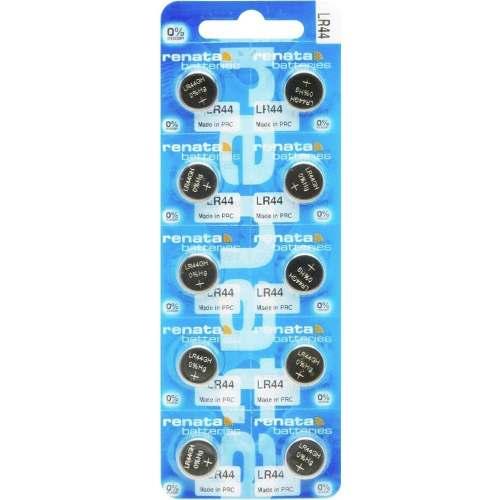 10 Pilhas Baterias LR44 A76 AG13 1,5v Renata Original - 1 cartela com 10 unidades