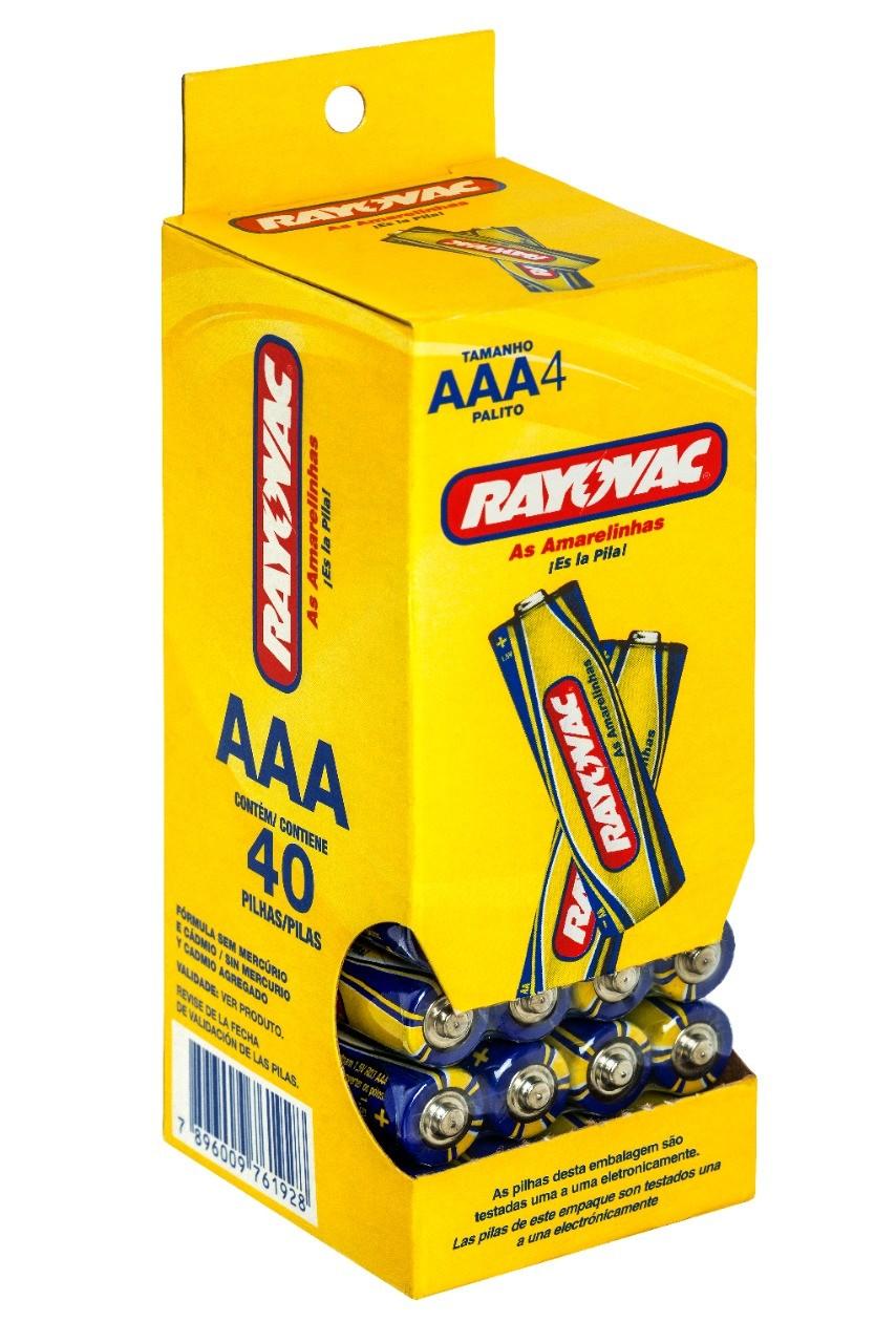 120 Pilhas AAA Zinco Carvão RAYOVAC 3 tubos
