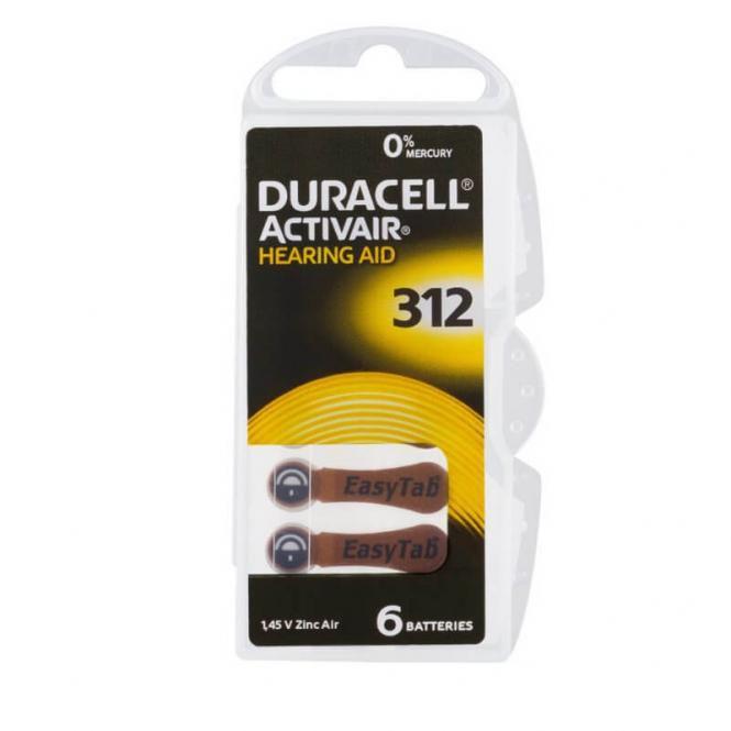 120 Pilhas Baterias DA 312 PR41 Aparelho Auditivo - Duracell