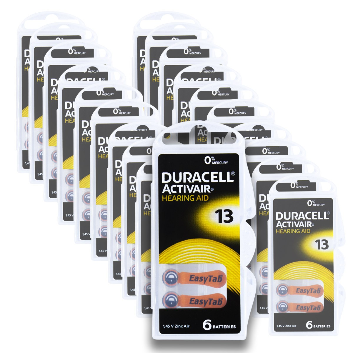 120 Pilhas DA13 DURACELL baterias PR48 Aparelho auditivo