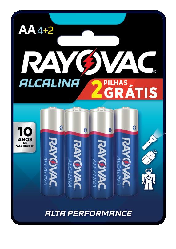 12 Pilhas AA Alcalina RAYOVAC 2 cart c/ 6 unid