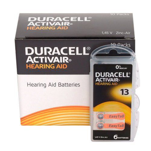 12 Pilhas Baterias DA 13 PR48 Aparelho Auditivo - Duracell