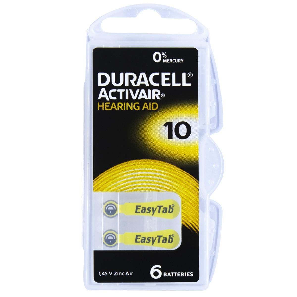 12 Pilhas DA10 DURACELL baterias PR70 Aparelho auditivo