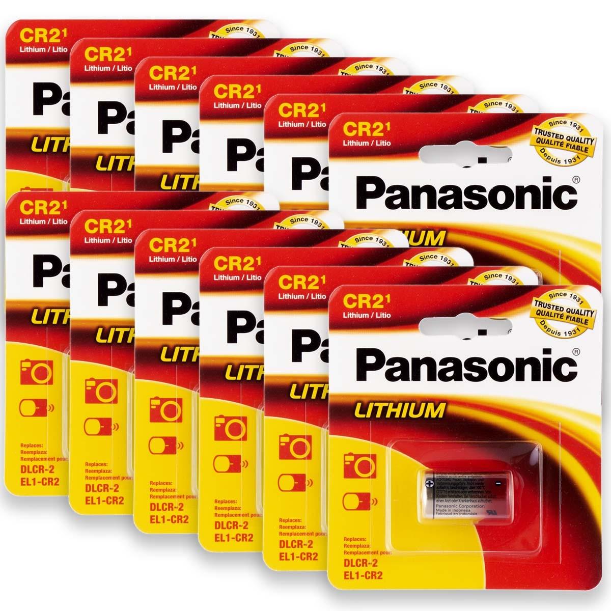 12 Pilhas PANASONIC CR2 3V Bateria 12 cartelas