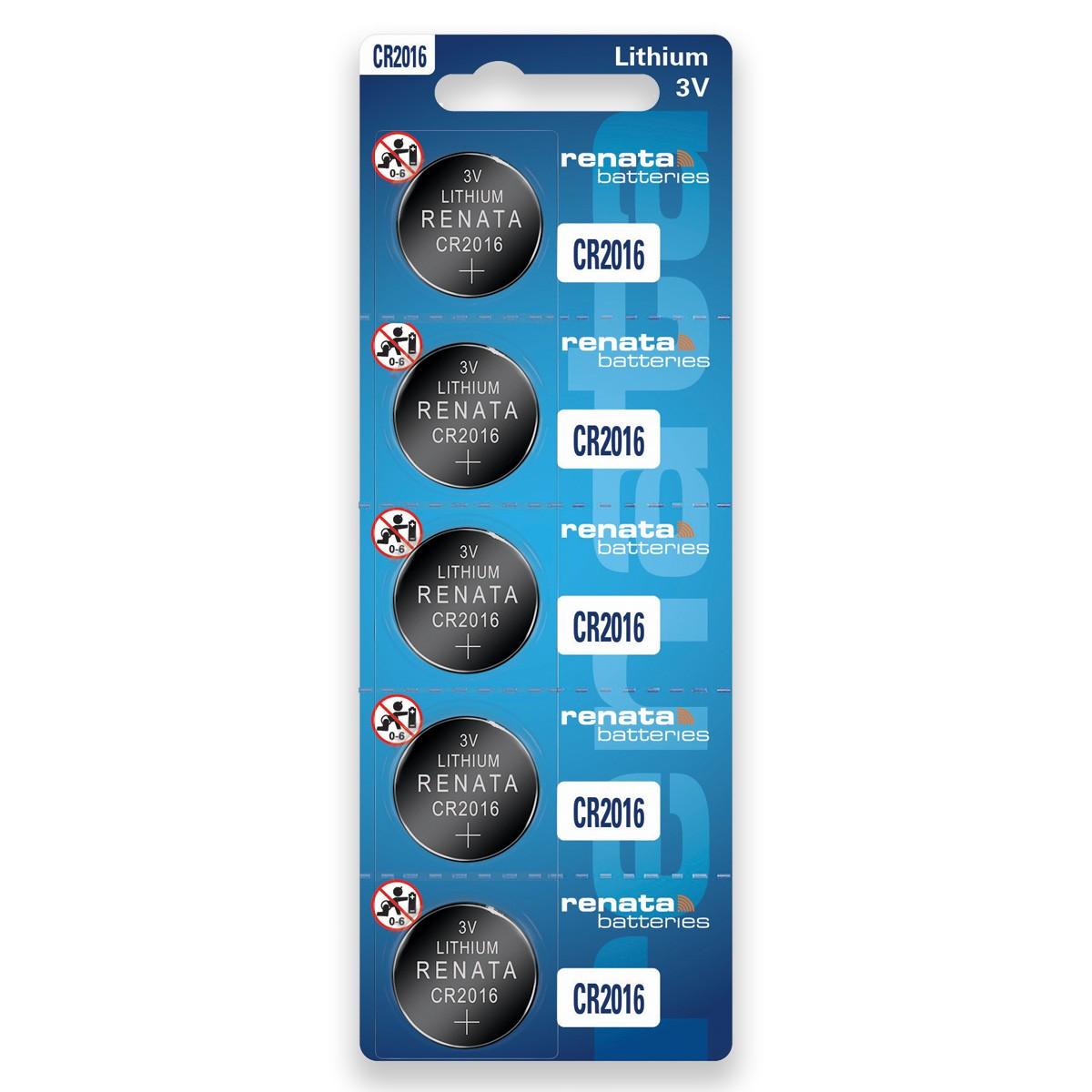 15 Baterias Pilhas Renata CR2016 3 cartelas