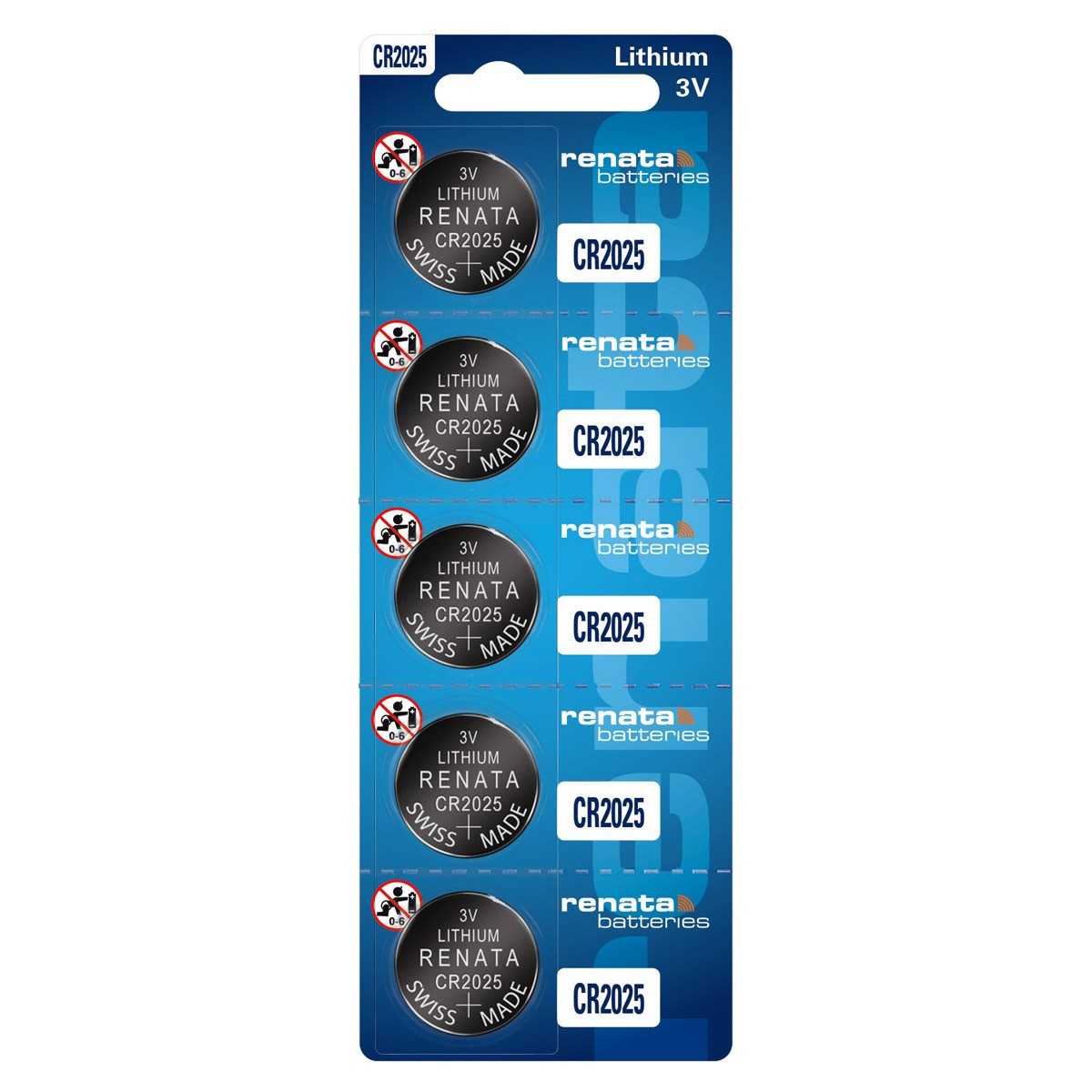 15 Baterias Pilhas Renata CR2025 3 cartelas